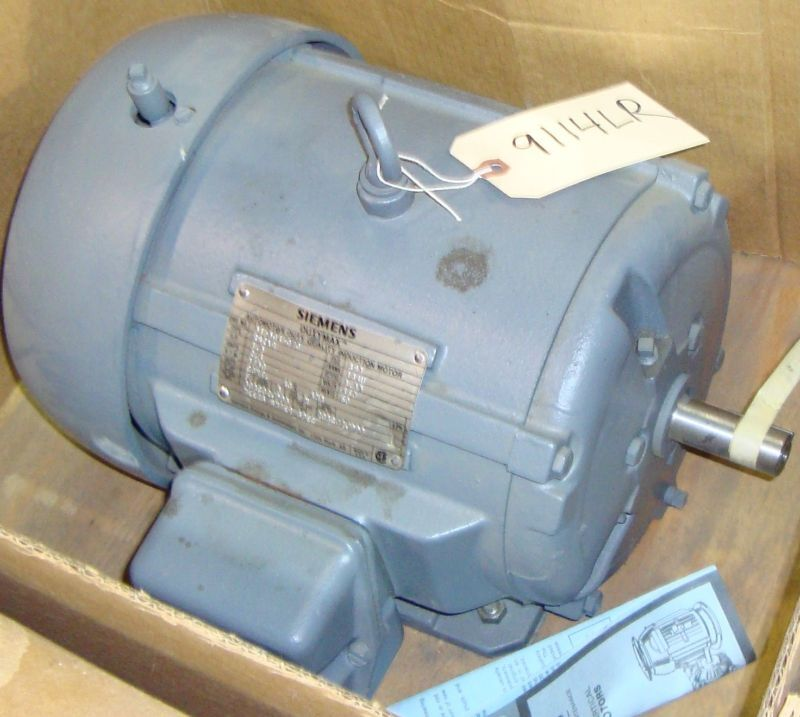 New Siemens Electric Motor HP 1.5 RPM 1750 9114LR