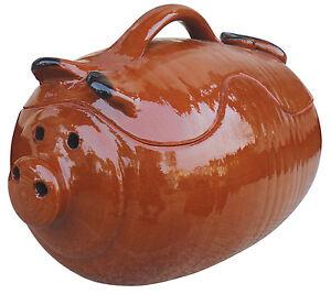 Maiale da forno in terracotta tegame pentola ebay - Forno di terracotta ...