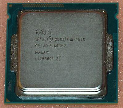 Intel i5-4670 SR14D Quad Core CPU Processor 3.4Ghz LGA 1150 6MB SmartCache Used