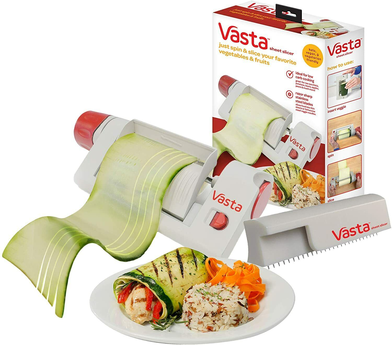 Vasta 2-in-1 Slicer Vegetable & Fruit Sheet & Noodle Low-Carb Veggie Sheets Home & Garden