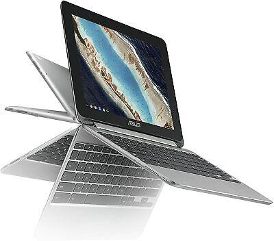 "ASUS Chromebook C100PA 10.1"" TouchScreen Flip(16GB, Cortex-A72-A53, 4GB) Silver"