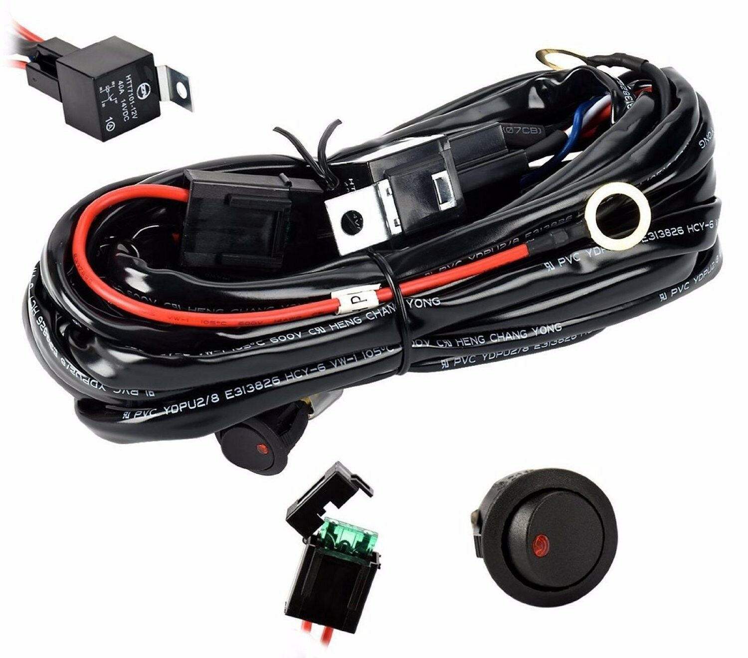 Eyourlife 12v 40a Off Road Led Light Bar Onoff Power Switch Relay Wiring Harness 57