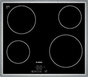 Bosch PKE645B17E Ceranfeld Schott Kochfeld Edelstahlrahmen Glaskeramik Touch NEU