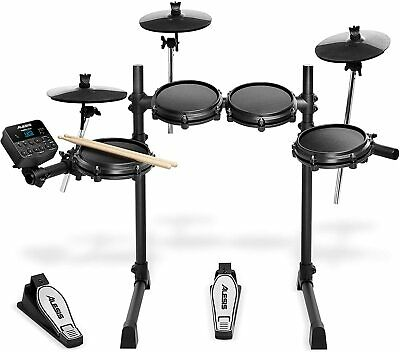E-Drum Set Schlagzeug elektronisch Percussion Mesh 7-Teilig Instrument