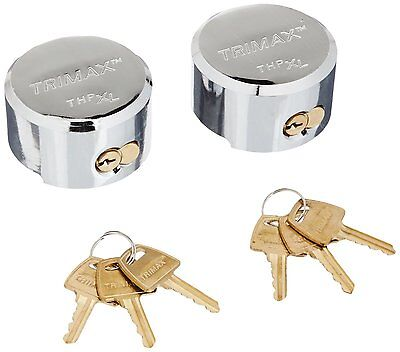Trimax Hockey Puck All Keyed Alike Internal Shackle Trailer Door Lock 2 Pack