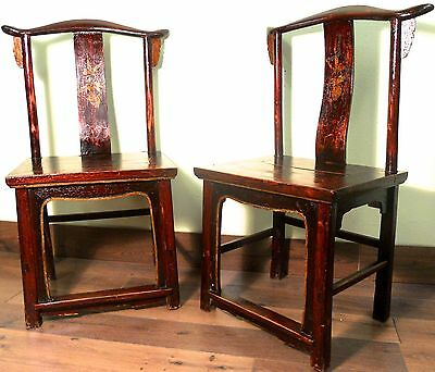 Antique Chinese High Back Chairs (5852) (pair), Circa 1800-1849