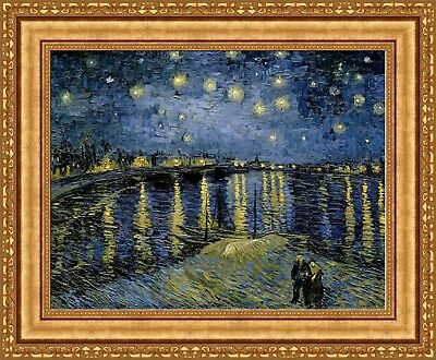 (Vincent van Gogh Starry Night Over the Rhone Framed Canvas 27