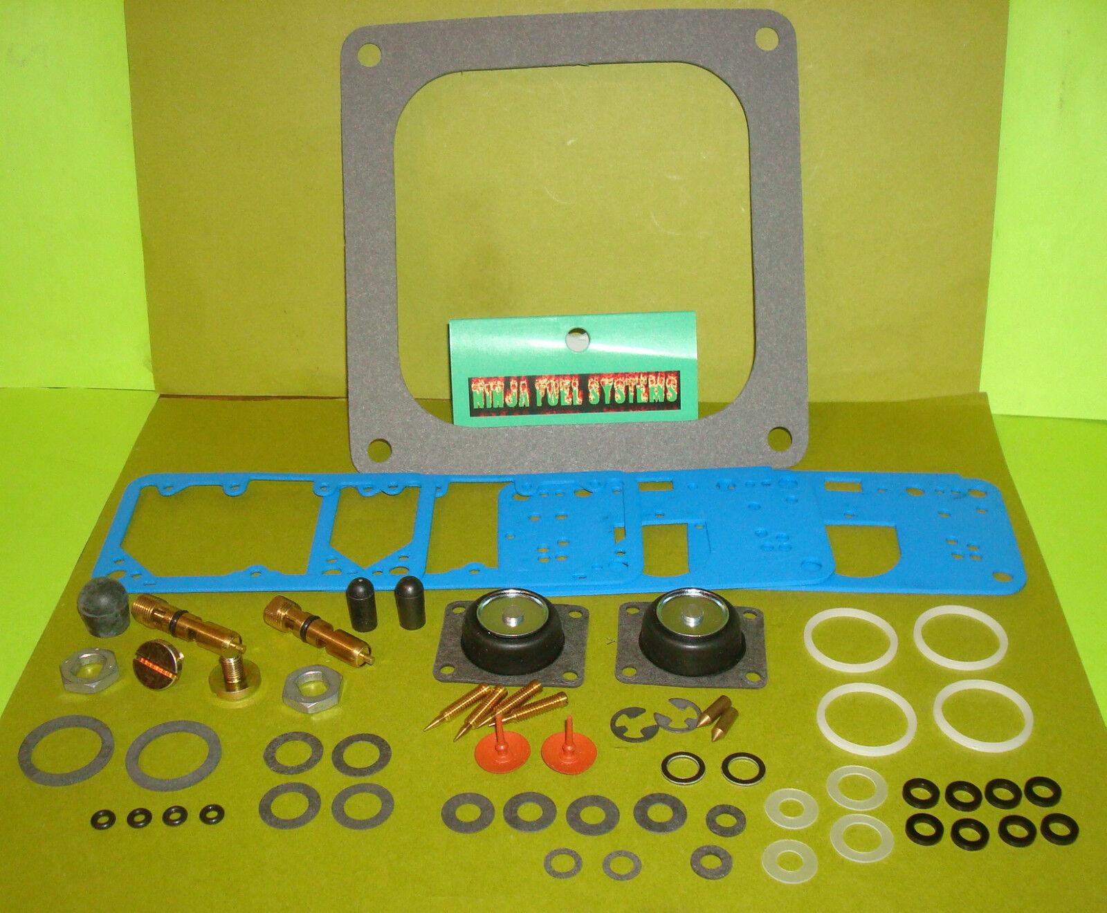 Rebuild Kit 130 N&s Blue Reusable Gaskets For 4500 Holley Dominator 1050 1150