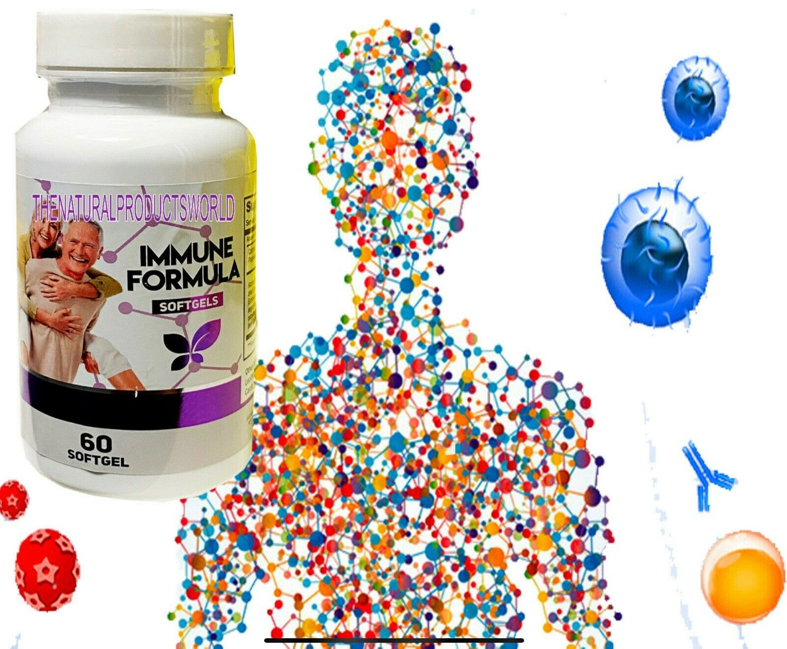 Pure Inmune Support Immune System, Antioxidant, Booster, Virus Shield,Inmunovid