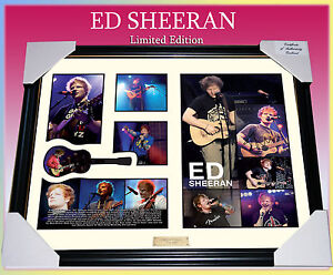NEW-ED-SHEERAN-MUSIC-MEMORABILIA-SIGNED-FRAMED-LIMITED-499-w-COA