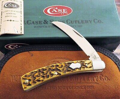 Case Tony Bose Pruner Knife 2002 Issue Antique Bone Handles ATS-34 Steel! MIB NR