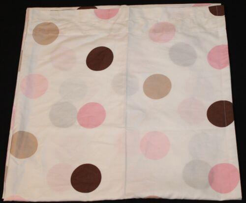 Sweet JoJo Designs Window Panels - 2 panels - pink brown circles nwop #522