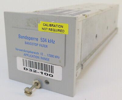 Wandel Goltermann Bandsperre Bandstop Filter Rss-534 534 Khz