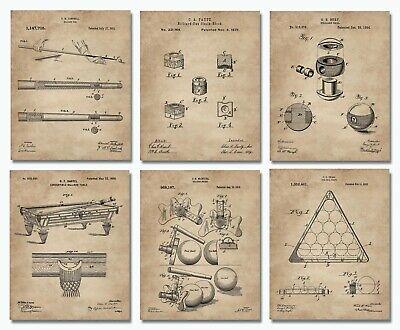 6 Billiards Patent Wall Art Prints - 8
