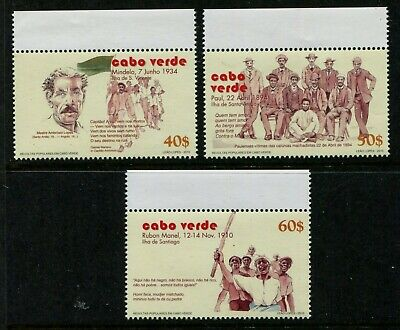 Cape Verde 947-949, MNH, 2014 Rebellion Mindelo Rubon Manel. x32236 - Mindelo Cape Verde