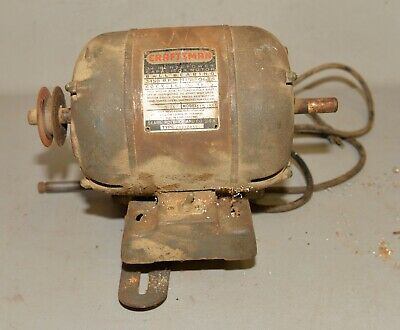 Vintage Craftsman Motor 34 Hp 3450 Rpm Dual Shaft Table Saw Lathe Drill Tool