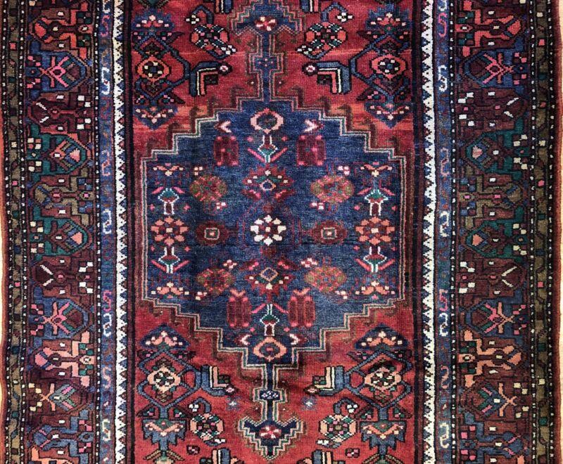 Tremendous Tribal - 1940s Antique Oriental Rug - Nomadic Carpet - 4.4 X 6.11 Ft.