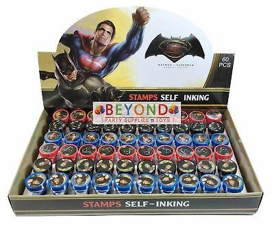 Batman Gift Bag (Batman vs Superman Self Ink Stamps Birthday Party Favors Gift Bag Filler)