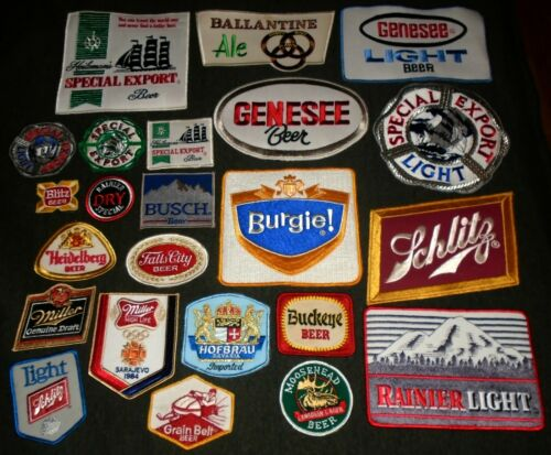 BIG LOT of Vintage Original Beer & Brewery Route Drivers Shirt or Jacket Patches