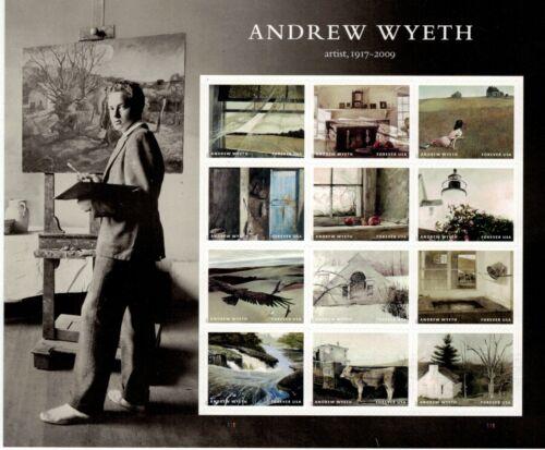 #5212-5223 Andrew Wyeth Pane of 12 (2017)