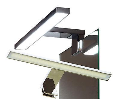 Eisen Bad Lampe (LED Klemmleuchte Spiegelleuchte Badleuchte Badlampe für Möbel Glaß #2040N-41N#)