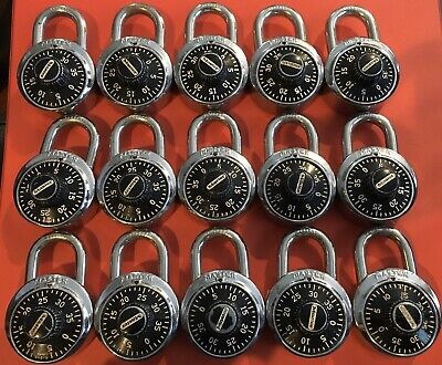 Lot Of 15 Master Combination Locks School Gym Locker Used With Combinations