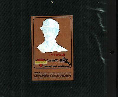 Nice Older  Consol Coal Co  Coal Mining Sticker   719