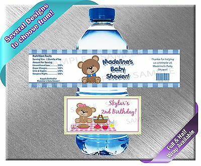 er Bottle Labels ~ Birthday Party Baby Shower Supplies (Teddy Bear Party Supplies)