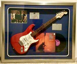 Autographed & Framed U2 Electric Guitar