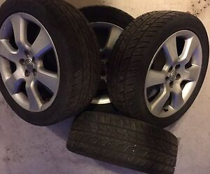 Toyota Matrix / Corolla alloy rims with Bridgestone tires
