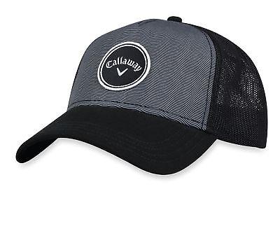 NEW 2018 Women's Callaway Golf Trucker Black/White Adjustable Hat/Cap