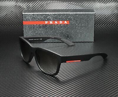 PRADA LINEA ROSSA PS 03QS DG00A7 Black Rb Grey Gradient 57 mm Men's Sunglasses