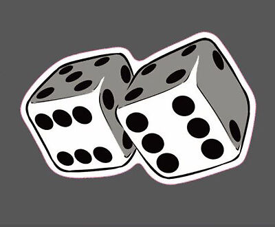 Stickers Dice - DICE STICKER, PLAYING DICE DECAL STICKER (DD-277)