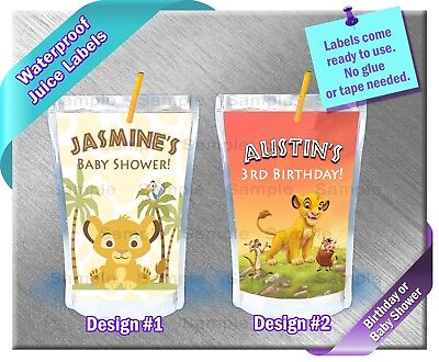 The Lion King ~ Capri Sun Juice Labels ~ Birthday Party Baby Shower Supplies - Baby Lion King