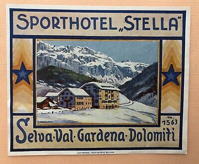 Luggage Label Hotel Stella, Selva Val Gardena, Dolomiti - Italy