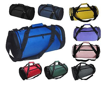 "DALIX 18"" Round Duffle Bag Flexible Roll Gym Traveling Equipment Sports Bag"