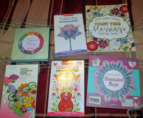 LOT OF 17 ASSORTED ADULT COLORING BOOKS
