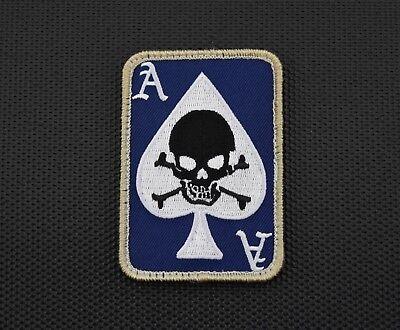 DEATH DEALER CARD Morale Patch UKSF Special Forces SAS Hook Backing Blue Version