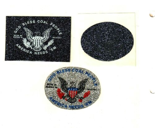 3 NICE GOD BLESS COAL PEOPLE COAL MINING STICKERS # 982