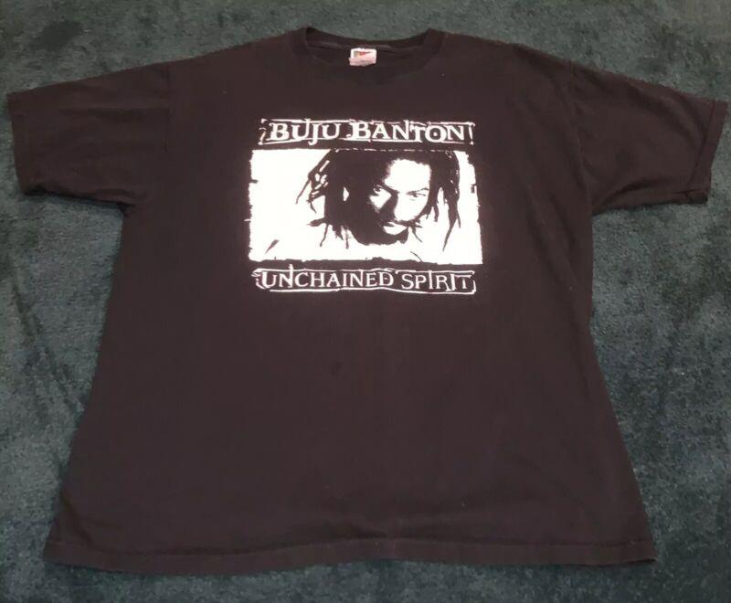 ULTRA-RARE Vintage Buju Banton Unchained Spirit Concert t-shirt - 2001