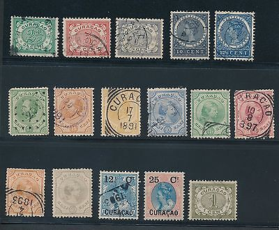 Curacao **16 EARLY ISSUES (1873-1908)** MH & USED; CV $120