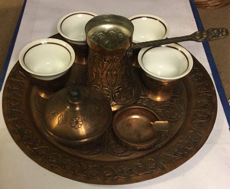 Vintage Turkish Tea  Set