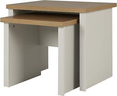 Tesco Somerton Set of 2 Nesting Tables (Putty Grey & Oak Effect)