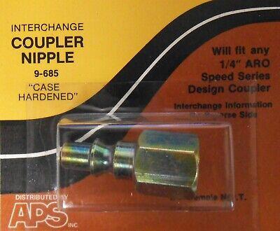 """9-685 1/4"""" ARO Speed Series Design Nipple Coupler Female C38 2609 61-529 9-851"""