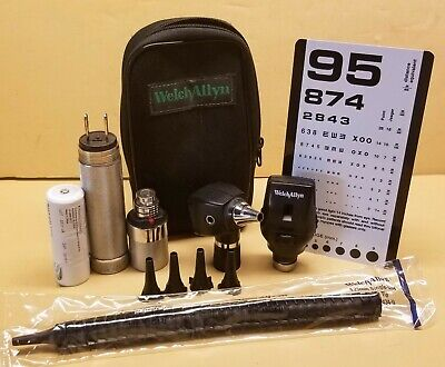Welch Allyn 3.5v Diagnostic Set Otoscope Ophthalmoscope Much More Included
