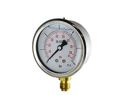 Manometro, misuratore di pressione, bagno glicerina, antivibrante, diametro 63mm