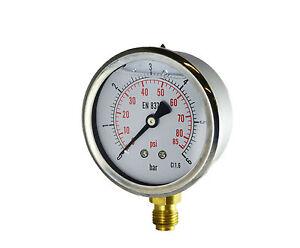 Manometro misuratore di pressione bagno glicerina - Manometro in bagno di glicerina ...