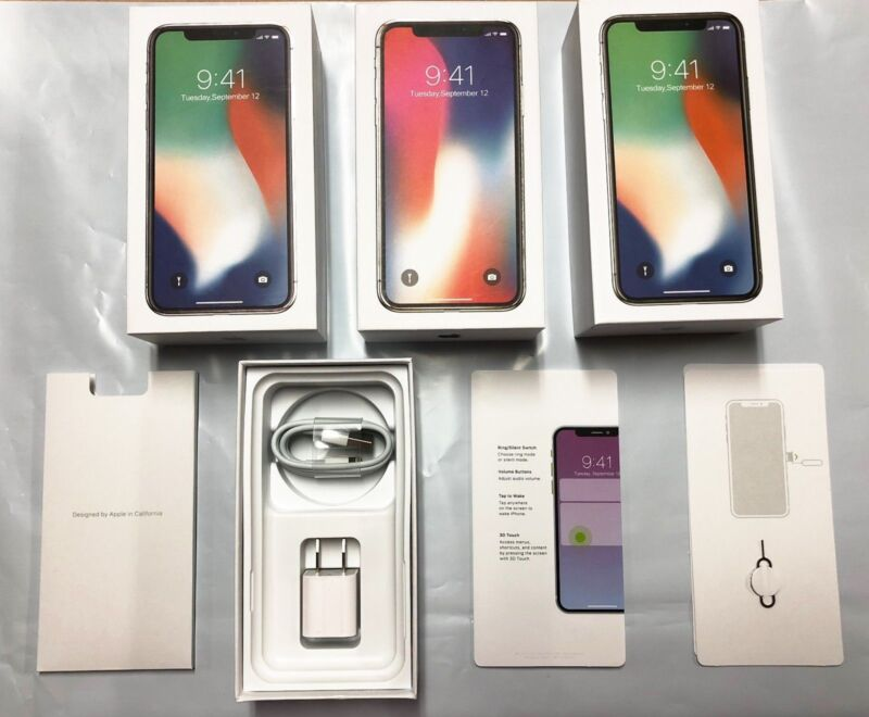 iPhone 8 8 Plus Empty Retail Box & Accessories Option Manual Included