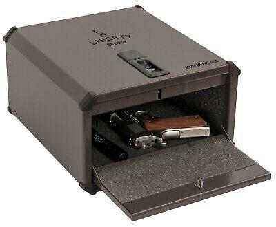 Liberty SmartVault Biometric Handgun Pistol Safe Fingerprint Gun Box - HDX-250