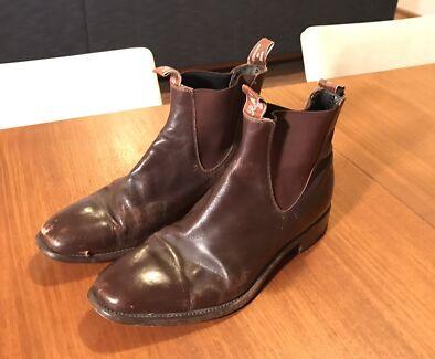 Vintage R.M. Williams Boots 12G Chestnut